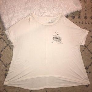 AMERICAN Eagle soft & sexy white lotus tee shirt
